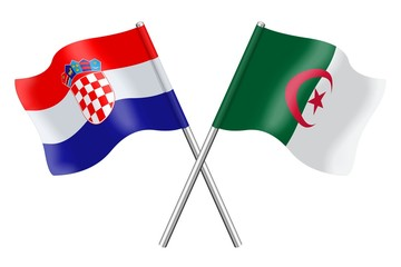 Flags: Croatia and Algeria