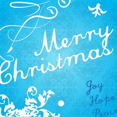 Modern Christmas invitation card.