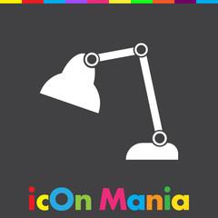 desk lamp vector icon