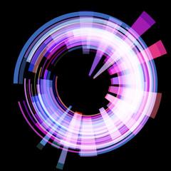 Abstract radioactive circle. Raster.