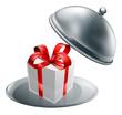 Gift silver tray luxury platter
