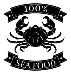 100 seafood pork food label