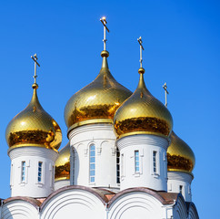 Golden domes of the Church
