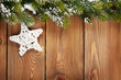 Christmas fir tree and star shape decor