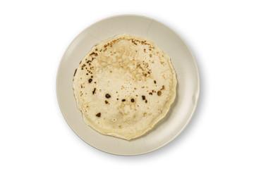 Pancake on a plate