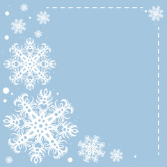 Vector Illustration of Christmas Snowflakes