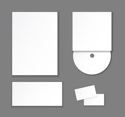 Template of corporate identity elements.