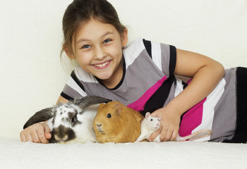 child and a set of rodents