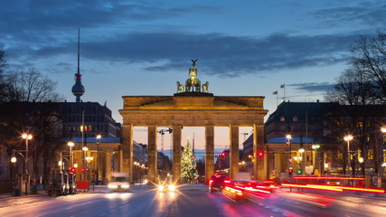 Brandenburger Tor in Berlin, Zeitraffer