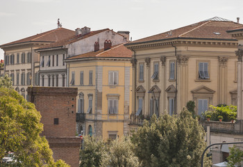 Ancient Lucca cityscape, Italy