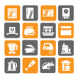 Silhouette kitchen appliances  and equipment icons