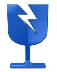 Blue fragile sign