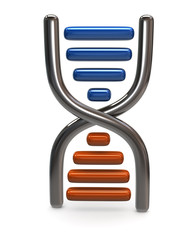 Blue and orange dna icon