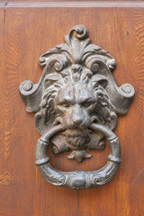 Door knocker closeup