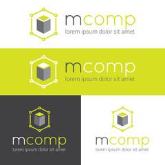 Vector modern logo for web studio or finance company
