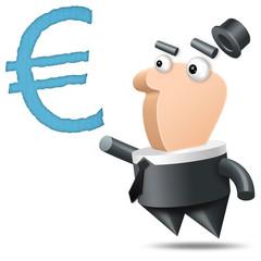 Polygone - Fond Blanc - Euro