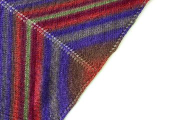 Coloured woolen shawl