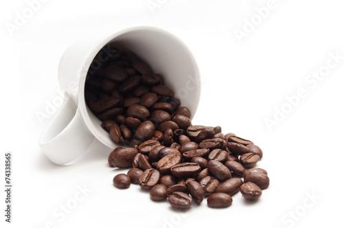 Plexiglas Cafe concept café et grains