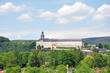 Leinwanddruck Bild - Rudolstadt mit Schloss Heidecksburg
