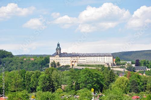 Leinwanddruck Bild Rudolstadt mit Schloss Heidecksburg