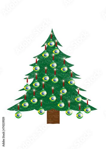 canvas print picture Weihnachtsbaum - Brasilien