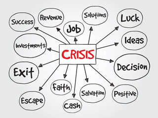 Crisis management process, business vector concept