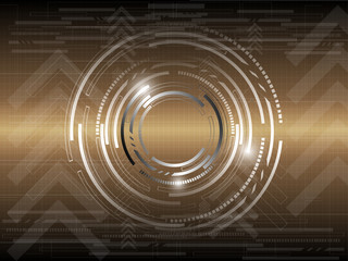 gold circle abstract background
