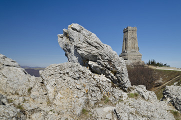 Near the Shipka monument in the central Bulgaria