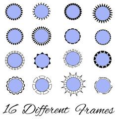 16 Different unique fullyeditable frames