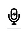 Microphone signal icon on white background.