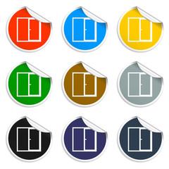 Flat Window icon, vector illustration