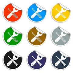 Repair Icon. Service  simbol. Tools singn. Flat design style.