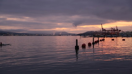 Rowers, Coal Harbor Dawn, Vancouver