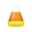 Realistic candy corn isolated on white background. - 74340530