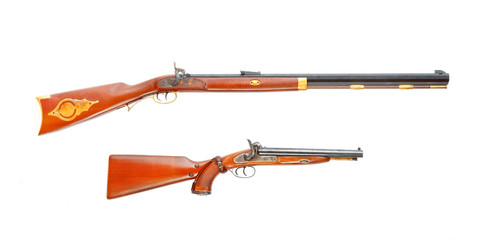 Two hunting weapons from american history.