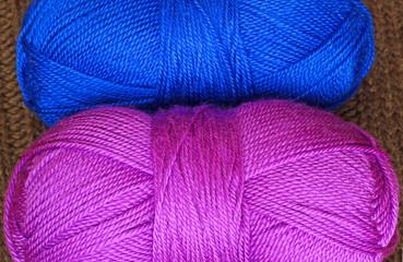 Two skeins of knitting yarn