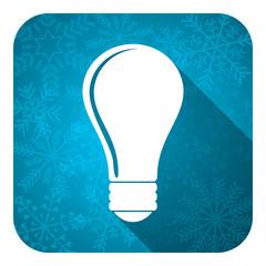 bulb flat icon, christmas button, idea sign