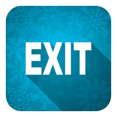 exit flat icon, christmas button