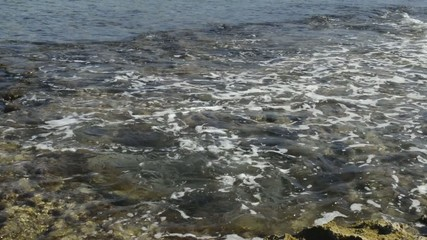 Sea water in the sunny day