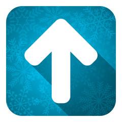 up arrow flat icon, christmas button, arrow sign