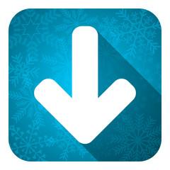 download arrow flat icon, christmas button, arrow sign