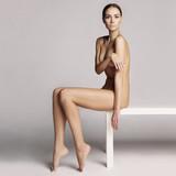 Elegant sitting lady