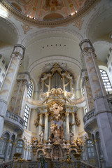 interior of the Dresden Frauenkirche(literally Church)