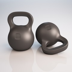 Fitness weights isolated 3d illustration