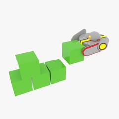 robot builds a wall
