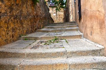 Casco histórico de Cáceres, callejuela empinada