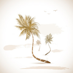 Palm Tree Grunge Illustration