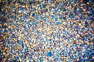 The colorful rock on surface. Nature background.