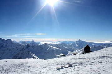 High in the mountains Elbrus