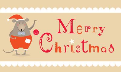 Christmas mouse card
